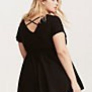 Torrid black babydoll crisscross back top